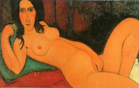 56-Modigliani-nu-couch-aux-cheveux-d-nou-s-II-1917